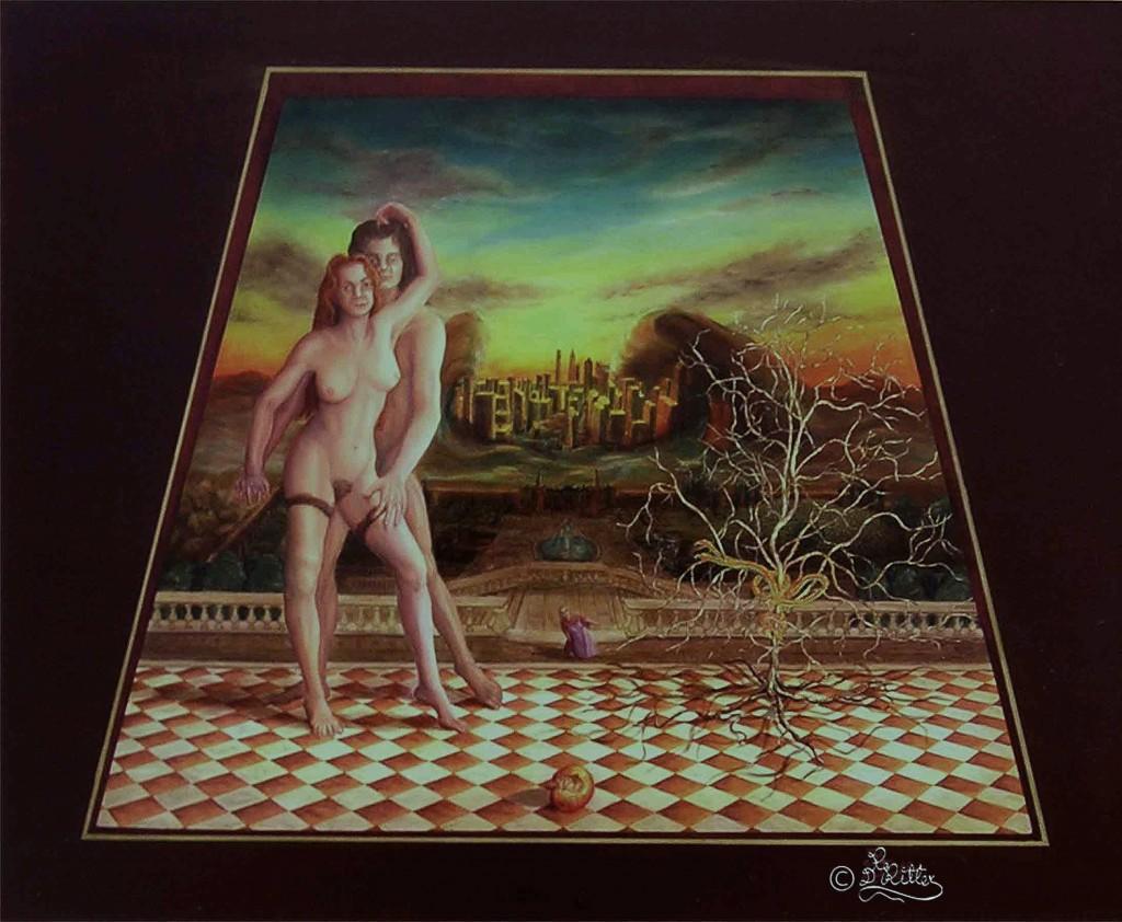 Adam-And-Eva ( Resin Oilcolor)
