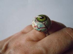 Eyeball-Ring (Polymerclay)