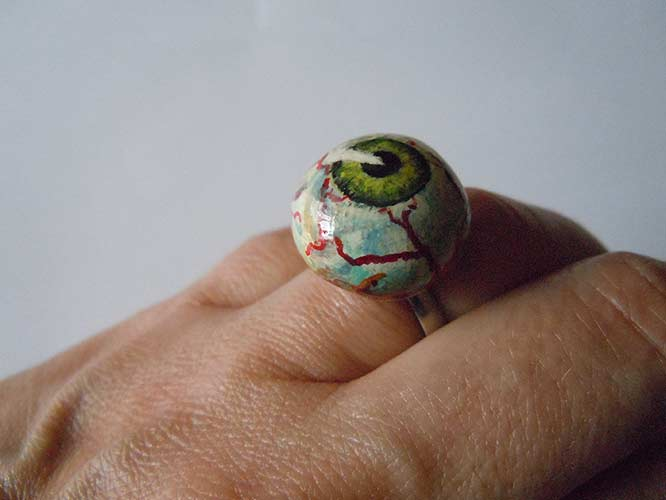 Eyeball-Ring (Polymerclay)