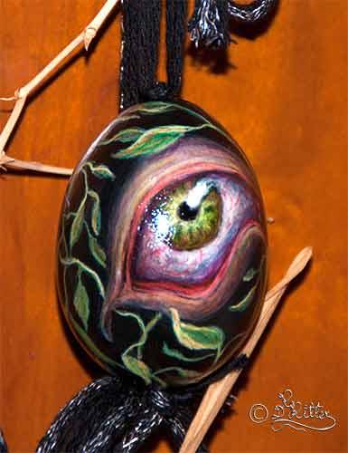 Eye-Egg (Chicken Egg, Acrylic Color)