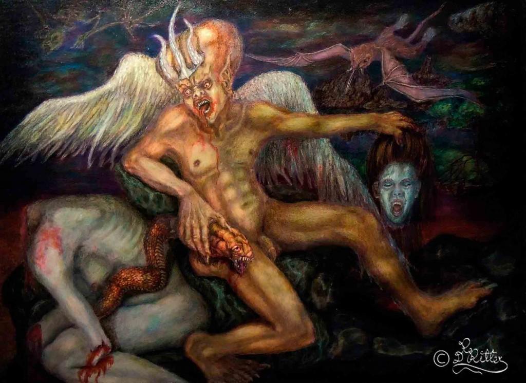 Blood Passion (Fresco Design / Mixed Media)