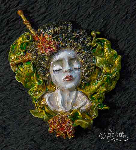 Geisha- Brooch (7cm-height)