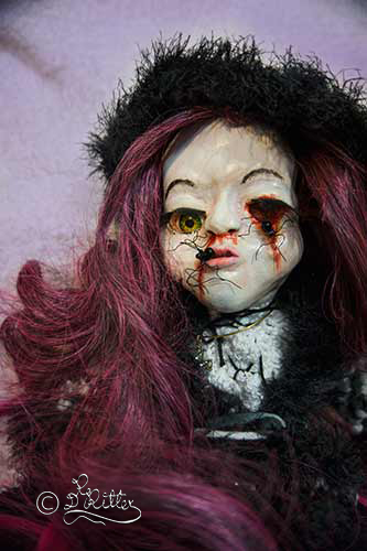 Chriselda: Born in winter, a from god lost child! (Mixed Media_45cm height)
