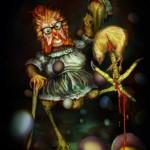 Crazy Killer Chicken (Digital Painting)