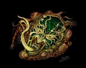 Demon Ornament (Digital Painting)