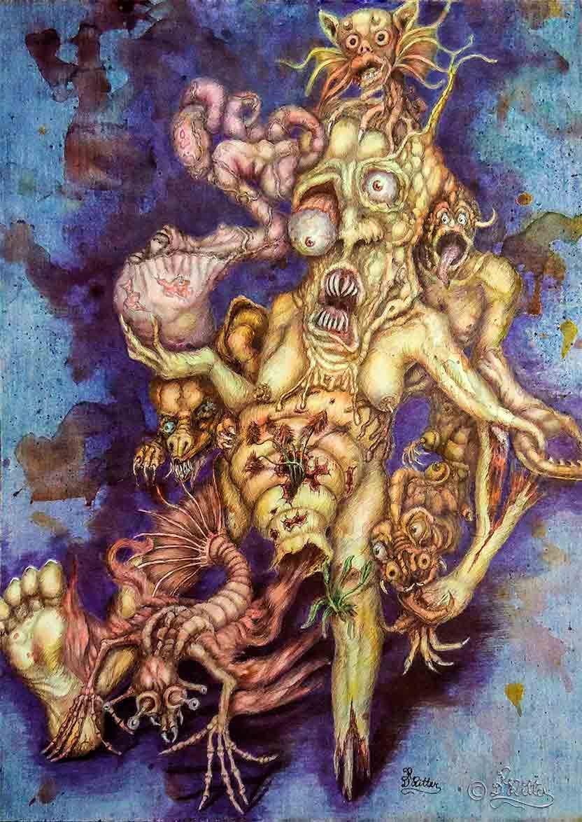 The Symbionts (Mixed Media)