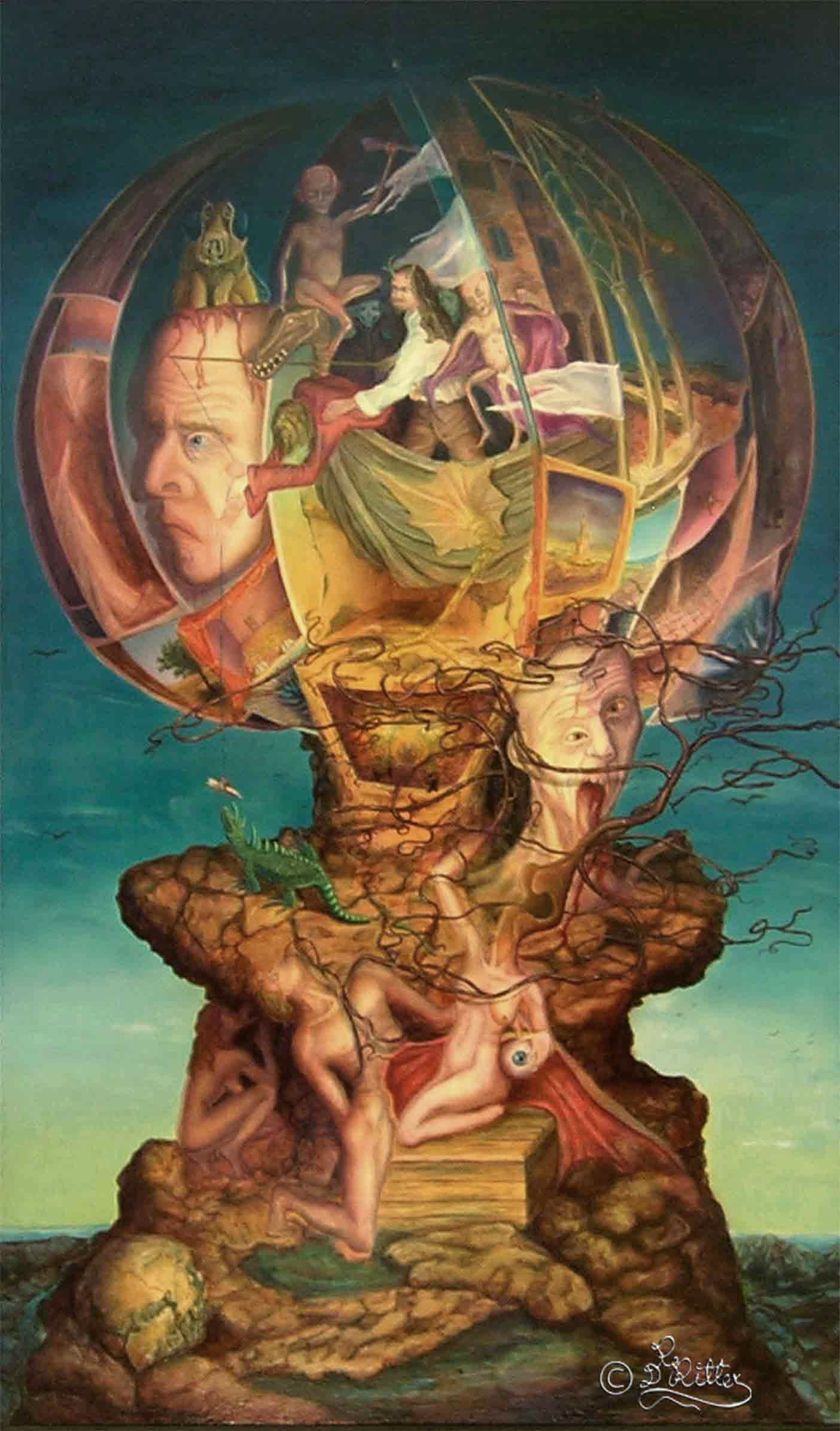 The Peculiar Littel World Ball (Resin Oilcolor)