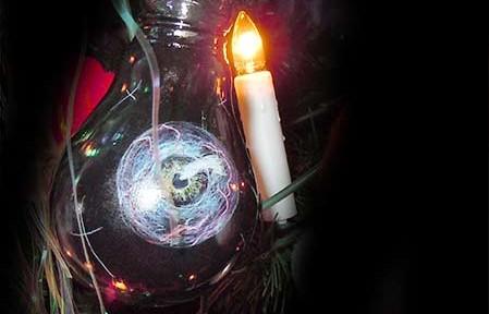 Gothic-Christmas Bulb ( Light Bulb, Acrylic Color)