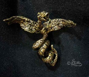 Snake-Trinket (Polymer Clay Skulptur_9cm Height)