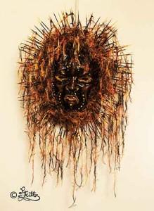 Medicine Man-Mask (Mixed Media)