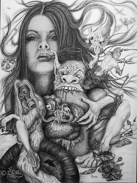 Mother-Nature-And-Her-Freak-Show ( Pencil)