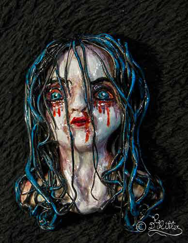 Gotic Girl- Brooch (Polymer Clay_7cm Height)