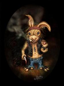 Rocker Rabbit ( Digital Painting)