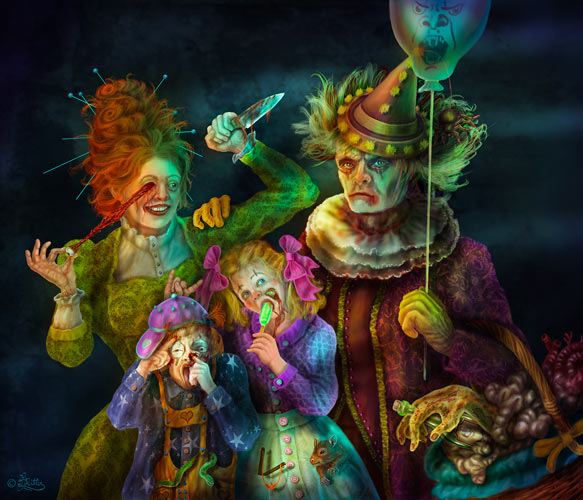 Scary Clowns Family Portrait