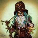 Voodoo Ghost Papa Legba (Mixed Media_37cm height incl.Hat)